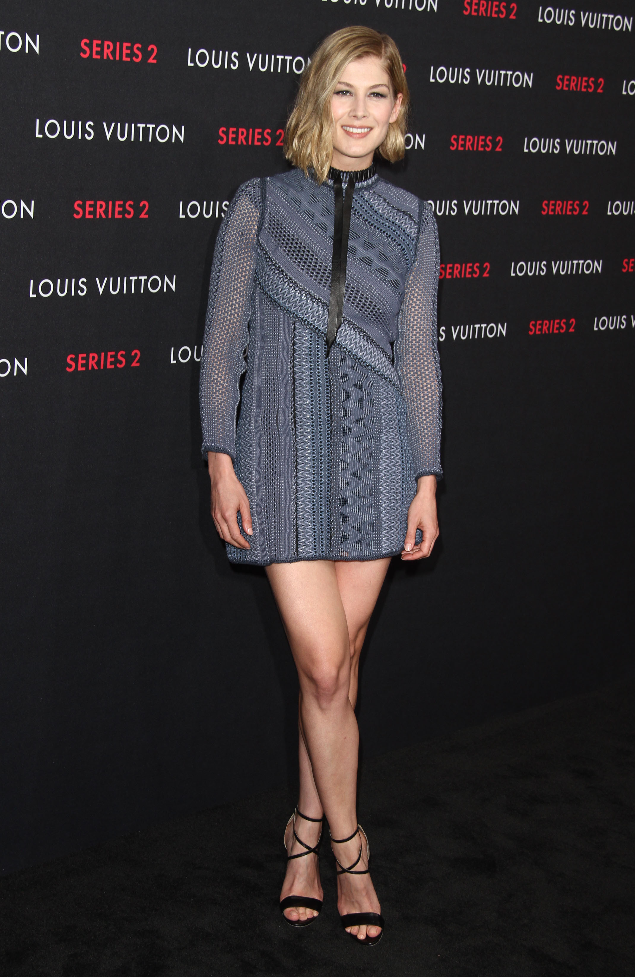 69a267319 Rosamund Pike at the Louis Vuitton 'Series 2' The Exhibition in Hollywood  02/05/15 Brian Atwood, Shoes Louis Vuitton, Dress