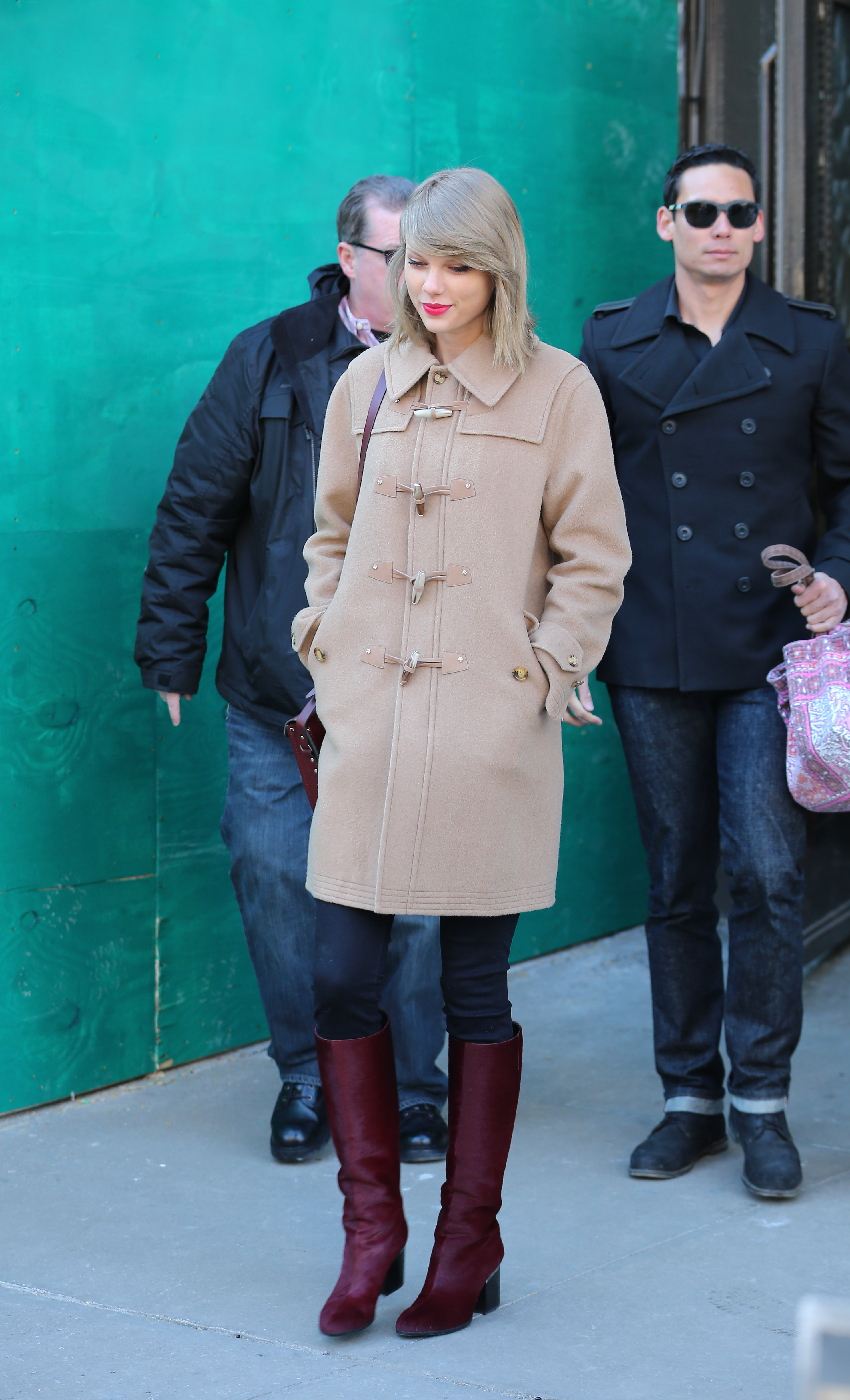 Taylor Swift Hit The Streets of NYC In Glamorous Gold Separates forecast